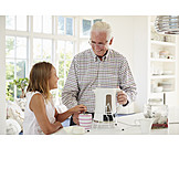 Grandfather, Preparation, Hot Drink, Grandchild