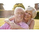 Glücklich, Liebe, Verliebt, Alter, Seniorenpaar