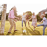 Soccer, Fun, Playing, Together, Family Life