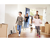 Happy, Move, Real Estate, Moving In