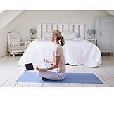 Meditating, Yoga, Lotus Position