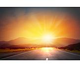 Sunset, Dawn, Road