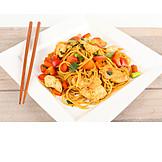 Asian Cuisine, Pasta Dish, Chicken