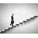 Businessman, Career, Success, Upward, Up