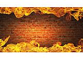 Wall, Fire, Burning