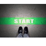 Geschäftsmann, Start, Job