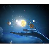 Space, Universe, Galaxy, Solar System