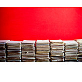 Recycled Paper, File Pile, Paper Stack