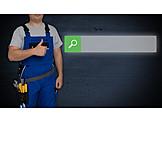 Service, Craftsman, Input Field, Online Searching