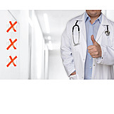 Healthcare & Medicine, Doctor, Competence, Thumbs Up