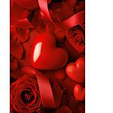 Herz, Valentinstag, Romantisch, Rosenblüten