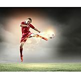 Soccer, Ball Game, Football Player