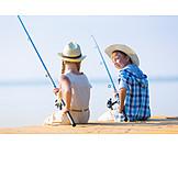 Holidays, Fishing, Siblings, Nature
