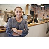 Gastronomy, Self Confident, Female Shop Owner