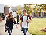 Couple, School, Loving, Friends