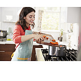 Cooking, Preparation, Carrots, Saucepan, Housewife, Lunch