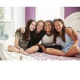 Teenager, Freundschaft, Verbundenheit, Freundinnen