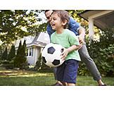 Vater, Fußball, Spaß, Sohn