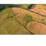Feld, Acker, Landwirtschaft, Luftaufnahme