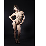 Akt, Nackt, Pose, Sportlich