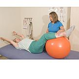 Mobilität, Krankengymnastik, Pezziball