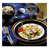 Fish Dish, Halibut Steak