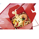 Asian Cuisine, Pasta Dish, Take Away