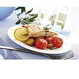 Fischgericht, Mittagessen, Victoriaseebarschfilet
