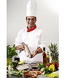 Healthy Diet, Prepared Fish, Cook, Explaining
