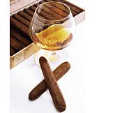 Cigar, Beverage, Brandy