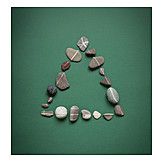 Pebble, Triangle, Triangle