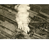 Aerial View, World War I, Attrition Warfare