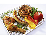 Broiling, Grooved, Sausage, Fried Sausages