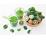 Beverage, Vegetable, Smoothie, Green Smoothie