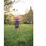 Girl, Gymnastics, Hand Stand, Cartwheel