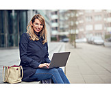 Business Woman, Mobile Communication, Laptop