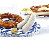 Bayrische Küche, Oktoberfest, Weißwurst