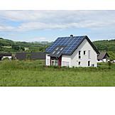 House, Solar Roof, Energy Plus-house