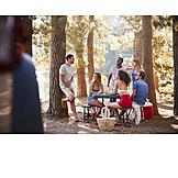 Picknick, Ausflug, Freunde, Rast