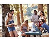 Lachen, Picknick, Ausflug, Freunde