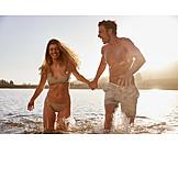 Couple, Summer, Bathing