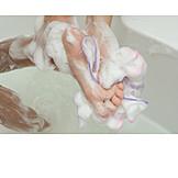 Feet, Washing, Washcloth