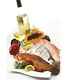 Prepared Fish, Fish Plate, Freshwater Fish