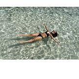 Woman, Pool, Bikini