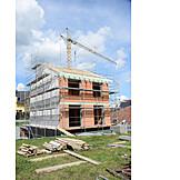 Hausbau, Neubau, Baustelle