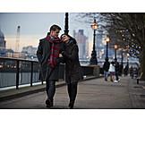 Walk, Love Couple, Embracing