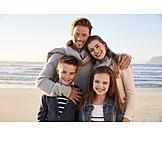 Glücklich, Familie, Familienporträt