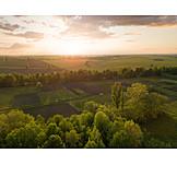 Sunrise, Arable, Fields