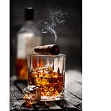 Cigar, Whiskey, Beverage