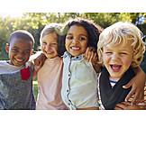 Laughing, Embracing, Children